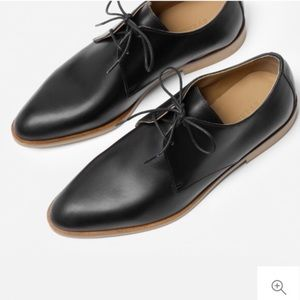 Everlane Black Leather Oxford Shoe Size 8
